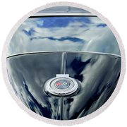 1967 Chevrolet Corvette Rear Emblem Round Beach Towel