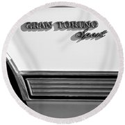 1972 Ford Gran Torino Sport Emblem Round Beach Towel