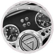 1972 Ginetta Steering Wheel Emblem Round Beach Towel