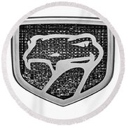1998 Dodge Viper Gts-r Emblem Round Beach Towel