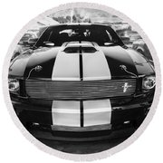2007 Ford Mustang Shelby Gt Painted Bw   Round Beach Towel