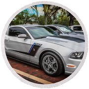2012 Ford Roush Stage 3 Mustang Rs3 Painted  Round Beach Towel