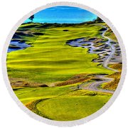 #5 At Chambers Bay Golf Course - Location Of The 2015 U.s. Open Tournament Round Beach Towel