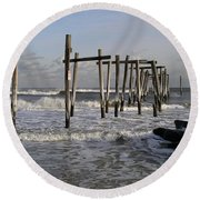 59th St. Pier Round Beach Towel