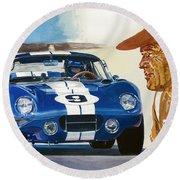 64 Cobra Daytona Coupe Round Beach Towel