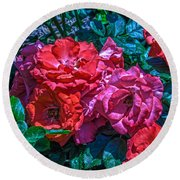 A Rose Is A Rose Round Beach Towel by Richard J Cassato