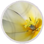 Round Beach Towel featuring the photograph A Touch Of Elegance by Bruce Bley