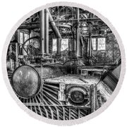 Abandoned Steam Plant Round Beach Towel