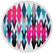Abstract  Round Beach Towel by Mark Ashkenazi