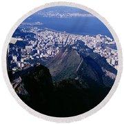 Aerial, Rio De Janeiro, Brazil Round Beach Towel