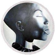African Elegance - Original Artwork Round Beach Towel