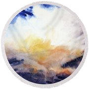 Air Lily Round Beach Towel