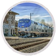 Amtrak 112 Round Beach Towel