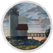 Annisquam Light Round Beach Towel by Eileen Patten Oliver