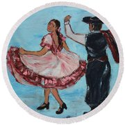 Argentinian Folk Dance Round Beach Towel