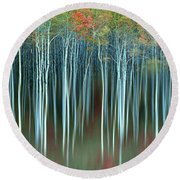 Army Of Trees Round Beach Towel