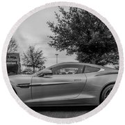 Aston Martin Vanquish V12 Coupe Round Beach Towel