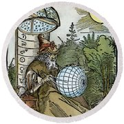 Astronomer, 1504 Round Beach Towel