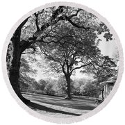 Autumn At Runnymede Uk Round Beach Towel