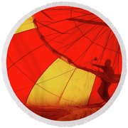 Round Beach Towel featuring the photograph Balloon Fantasy 2 by Allen Beatty