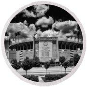Baltimore Memorial Stadium 1960s Round Beach Towel