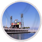 Baseball Park At The Waterfront, At&t Round Beach Towel