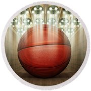 Basketball Museum Round Beach Towel