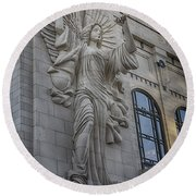 Bass Hall Angel Round Beach Towel