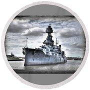 Battleship Texas Round Beach Towel
