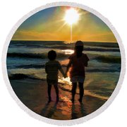 Beach Kids Round Beach Towel