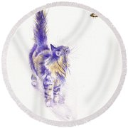 Bee Enchanted Round Beach Towel
