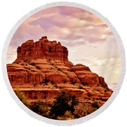 Bell Rock Vortex Painting Round Beach Towel