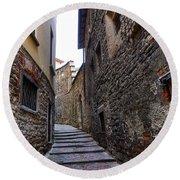 Bergamo Alta Round Beach Towel by Jouko Lehto