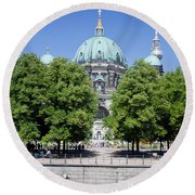 Berlin Catherdral Round Beach Towel