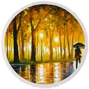 Bewitched Park Round Beach Towel