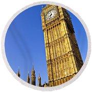 Big Ben Clock Tower Round Beach Towel