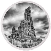 Round Beach Towel featuring the photograph Big Thunder Mountain Railroad by Howard Salmon