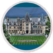 Biltmore House Round Beach Towel