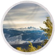 Round Beach Towel featuring the photograph Blacktooth by Michael Chatt