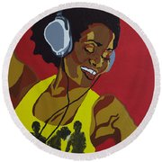 Blame It On The Boogie Round Beach Towel