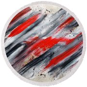 Blitzkrieg Round Beach Towel by Roberto Prusso