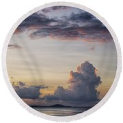 Blue Evening Round Beach Towel
