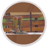Boots Round Beach Towel