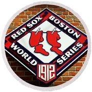 Boston Red Sox 1912 World Champions Round Beach Towel by Stephen Stookey
