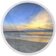 Breach Inlet Sunrise Round Beach Towel
