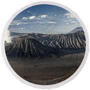 Bromo Mountain Round Beach Towel