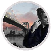 Brooklyn Bridge Round Beach Towel by Chris Consani
