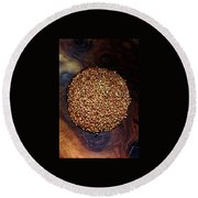 Buckwheat Grouts Round Beach Towel
