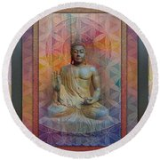 Buddha Round Beach Towel by Richard Laeton
