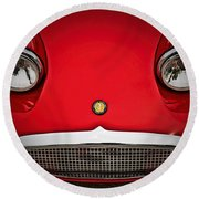 Bug Eyed Sprite Round Beach Towel by Douglas Pittman